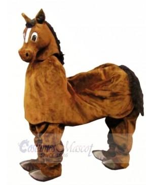 Cute Brown New 2 Person Horse Mascot Costume