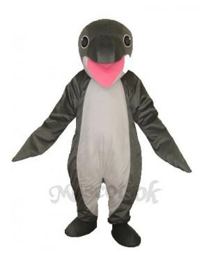Grey Penguin Mascot Adult Costume