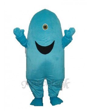 One-eyed Shark Mascot Adult Costume