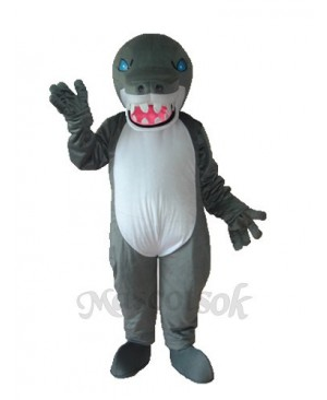 Grey Shark Mascot Adult Costume