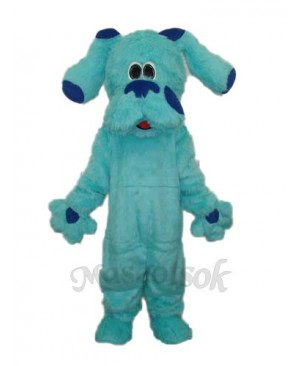 2nd Version Long Hair Blue Dog Blues Clues Mascot Adult Costume