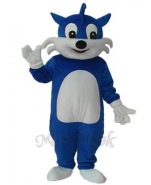 Blue Cat Mascot Adult Costume