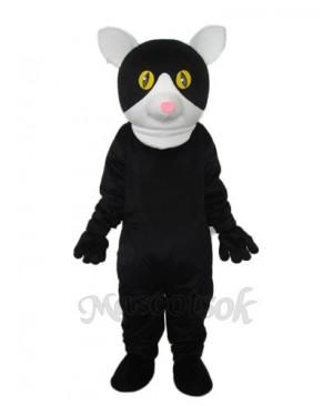 Little Black Cat Mascot Adult Costume