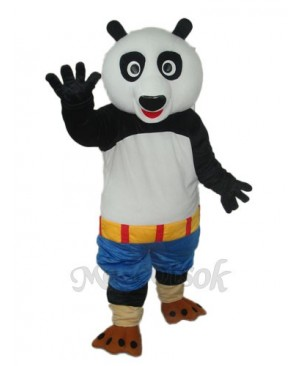Kung Fu Panda Blue Shorts Mascot Adult Costume