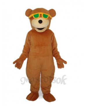 Bear with Green Sunglasses Mascot Adult Costume