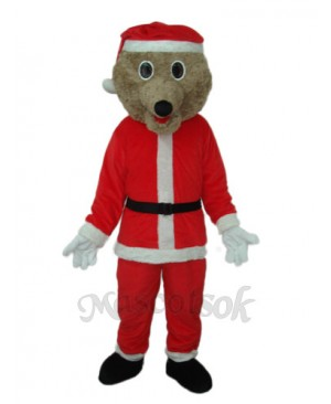 Christmas Bear Mascot Adult Costume