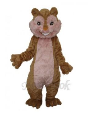 Long Wool Yellow Squirrel Mascot Adult Costume