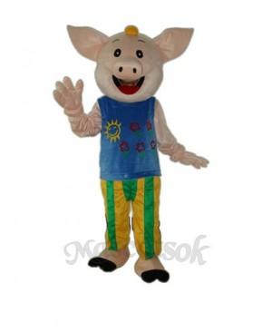 Cocoa Male Pig Mascot Adult Costume
