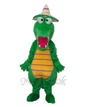 Crocodile with Hat Mascot Adult Costume