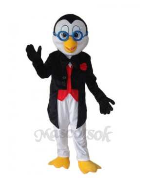 Old Glasses Penguin Mascot Adult Costume