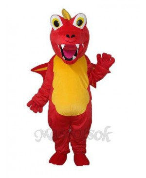 Red Thorn Dragon Mascot Adult Costume