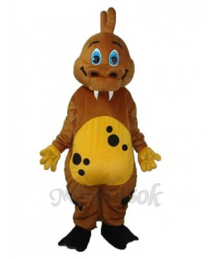 Golden Brown Dinosaur Mascot Adult Costume