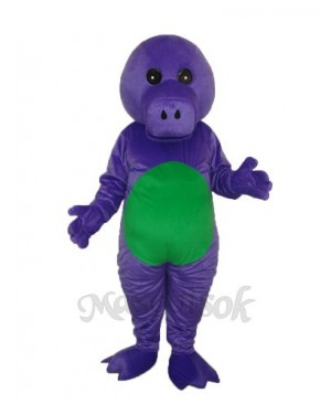 Purple Dinosaur Mascot Adult Costume