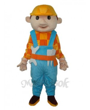 Yellow Hat Child (with wrench) Mascot Adult Costume