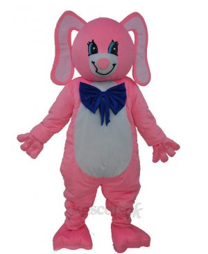 Long Ear Pink Bear Mascot Adult Costume