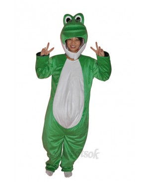 Super Cute Show Face Green Dinosaur Adult Mascot Costume