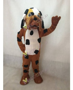 New Brown Dalmatian Spotty Dog Mascot Costume