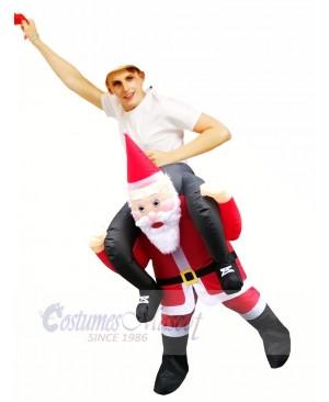 Inflatable Carry Me Christmas Santa Claus Mascot Costumes Cartoon