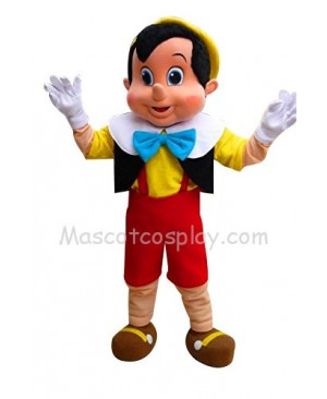 Pinocchio Mascot Character Costume Fancy Dress Outfit