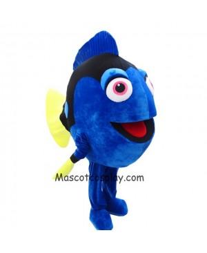 Hot Sale Realistic Finding Nemo Dory Blue Fish Mascot Costume Cartoon Character Halloween