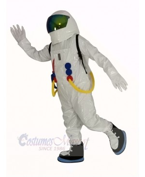 Astronaut Space Suit with Oxygen Bag Mascot Costume Adult
