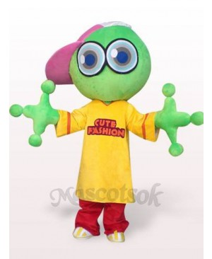 Green Big Head Frog Plush Adult Mascot Costume