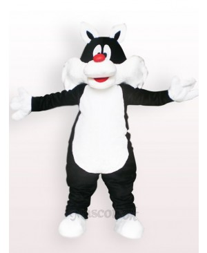 Black Cat Plush Mascot Costume