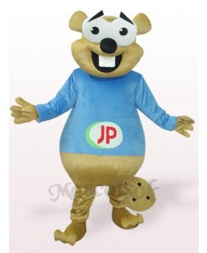 Blue Bear With Big Teeth Plush Adult Mascot Costume