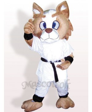 Boxing Dog Plush Adult Mascot Costume