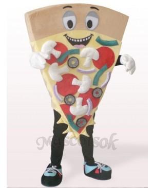 Brown Cheese Pizza Plush Mascot Costume