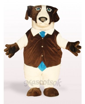 Brown Dog Plush Adult Mascot Costume