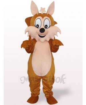 Brown Squirrel With Big Tail Plush Adult Mascot Costume