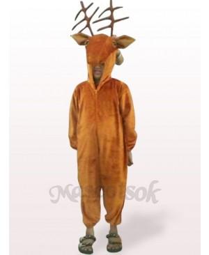 Coffee Deer Open Face Kids Plush Mascot Costume