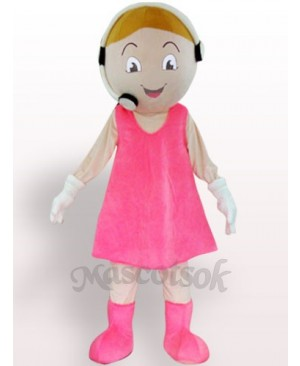 Customer Service Representative Plush Adult Mascot Costume
