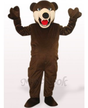 Deep Brown Bluebear Plush Adult Mascot Costume