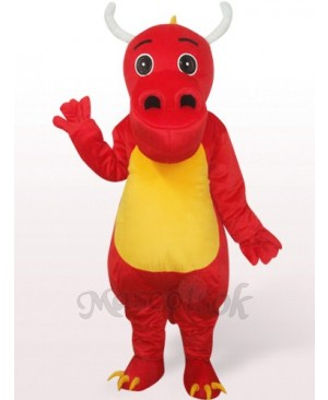 Dinosaur In Red Clothes Plush Mascot Costume