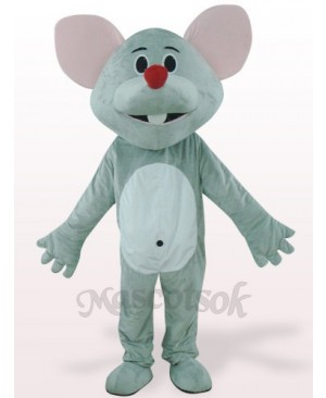 Gray Mouse With Red Nose Plush Mascot Costume