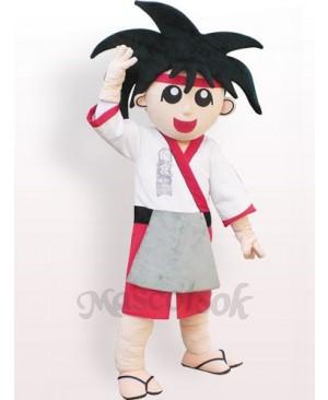 Japanese Boy Plush Adult Mascot Costume