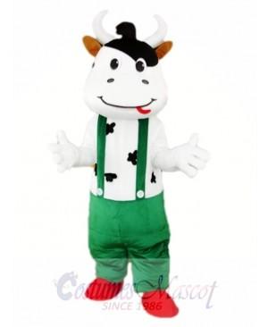 Green Cattle Cow Mascot Costume