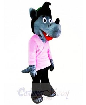 Cartoon Wolf Mascot Costume