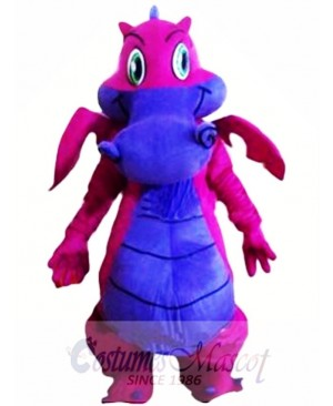 Cartoon Cute Purple Dragon Mascot Costume