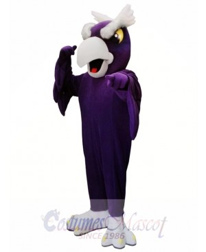 Purple Eagle Bird Mascot Costume