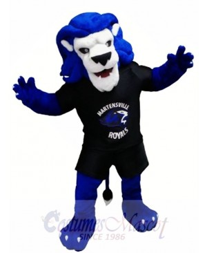 Blue Lion Animal Mascot Costume
