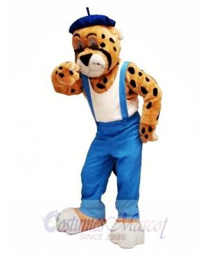 Leisurely Leopard Mascot Costume