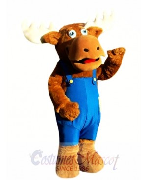Cute Moose Mascot Costume