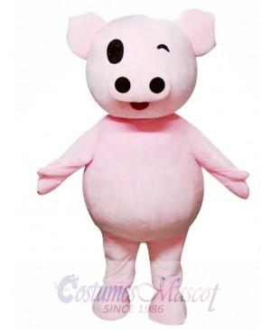 Cute Pink Pig Mascot Costume