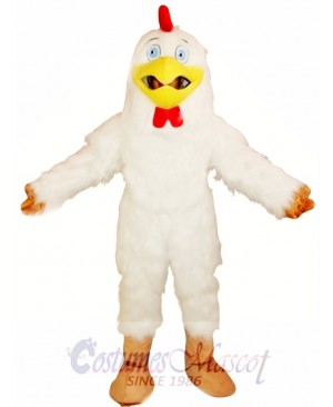 White Rooster Chicken Mascot Costume