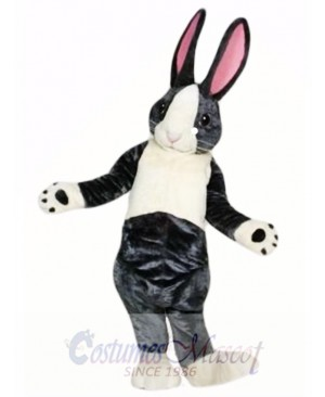 Black and White Pink Ears Rabbit Easter Bunny Mascot Costume
