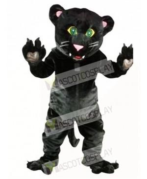 Friendly Black Panther Mascot Costume