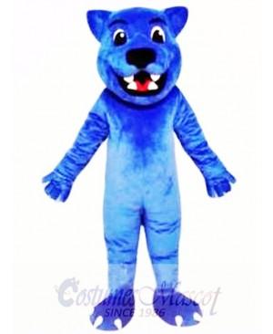 Blue Leopard Cute Panther Mascot Costume